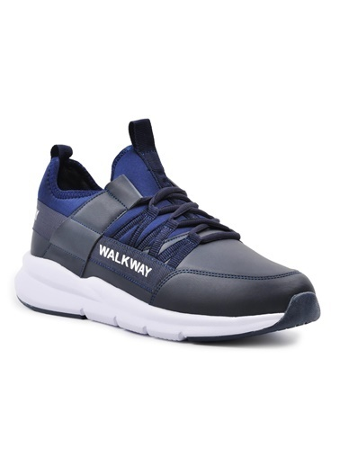 Walkway Wlk23107 Siyah-Siyah Erkek Spor Ayakkabı Lacivert